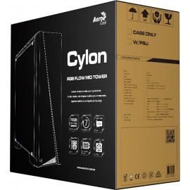 Корпус Aerocool Cylon черный без БП ATX 1x120mm 2xUSB2.0 1xUSB3.0 audio CardReader bott PSU