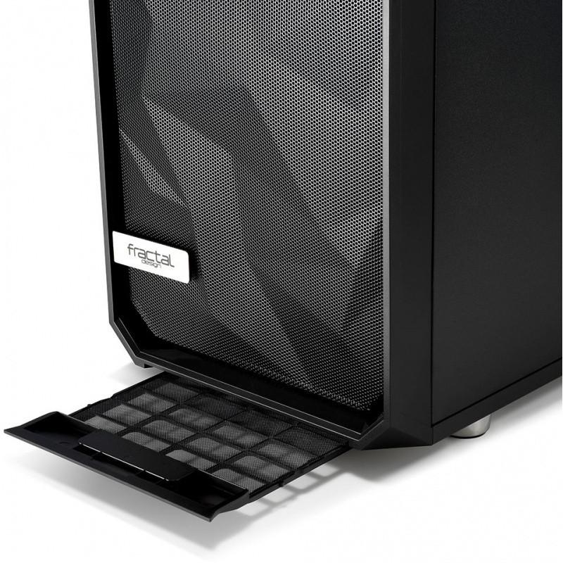 Корпус Fractal Design Meshify S2 Solid черный без БП E-ATX 5x120mm 4x140mm 2xUSB3.0 1xUSB3.1 audio bott PSU