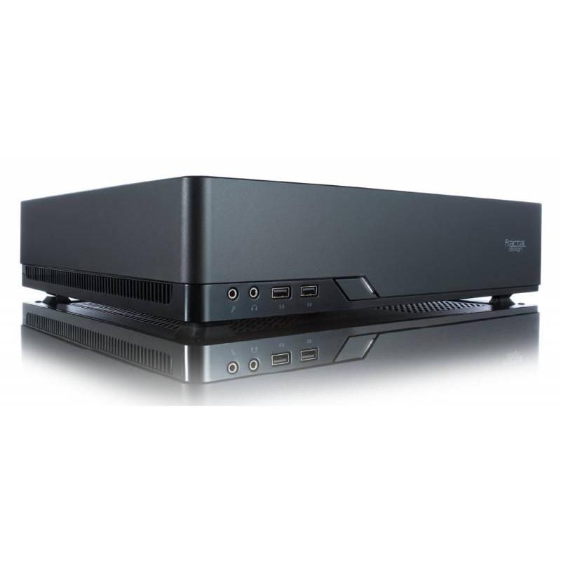 Корпус Fractal Design Node 202 черный без БП miniITX 2x120mm 2xUSB3.0 audio bott PSU