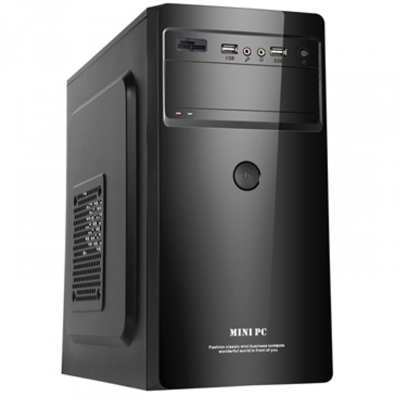 Корпус LinkWorld VC-13M35 черный без БП mATX 1x80mm 1x120mm 2xUSB2.0 audio