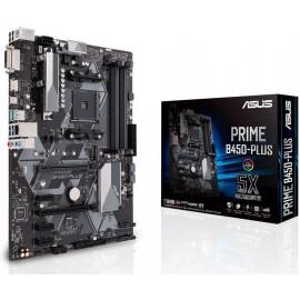 Материнская плата Asus PRIME B450-PLUS Soc-AM4 AMD B450 4xDDR4 ATX AC`97 8ch(7.1) GbLAN RAID+DVI+HDMI