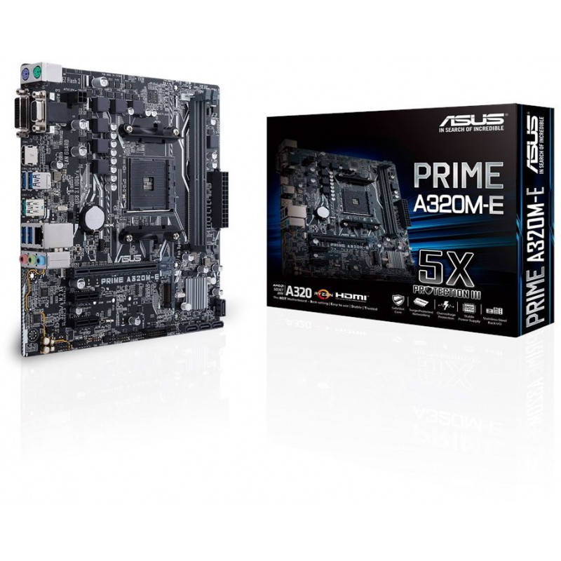 Материнская плата Asus PRIME A320M-E Soc-AM4 AMD A320 2xDDR4 mATX AC`97 8ch(7.1) GbLAN RAID+VGA+DVI+HDMI