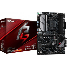 Материнская плата Asrock X570 PHANTOM GAMING 4 Soc-AM4 AMD X570 4xDDR4 ATX AC`97 8ch(7.1) GbLAN RAID+HDMI+DP