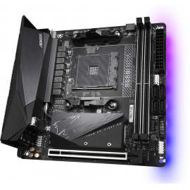 Материнская плата Gigabyte B550I AORUS PRO AX Soc-AM4 AMD B550 2xDDR4 mini-ITX AC`97 8ch(7.1) 2.5Gg RAID+HDMI+DP