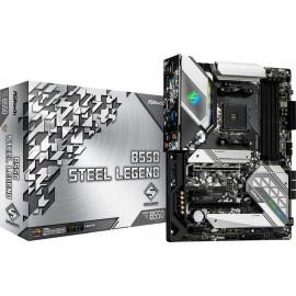 Материнская плата Asrock B550 STEEL LEGEND Soc-AM4 AMD B550 4xDDR4 ATX AC`97 8ch(7.1) 2.5Gg RAID+HDMI+DP