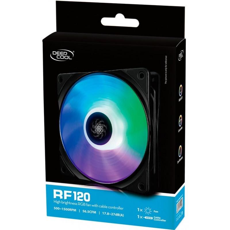 Вентилятор Deepcool RF 120 120x120mm 4-pin 18-27dB 164gr LED Ret