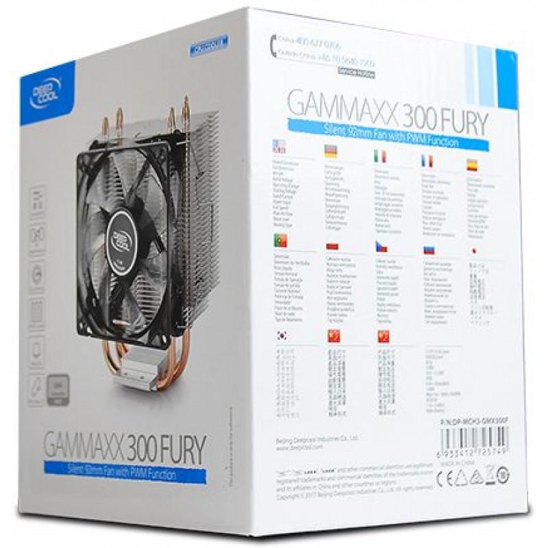 Устройство охлаждения(кулер) Deepcool GAMMAXX 300 FURY Soc-AM4/AM3+/1150/1151/1200 4-pin 18-21dB Al+Cu 130W 435gr LED Ret