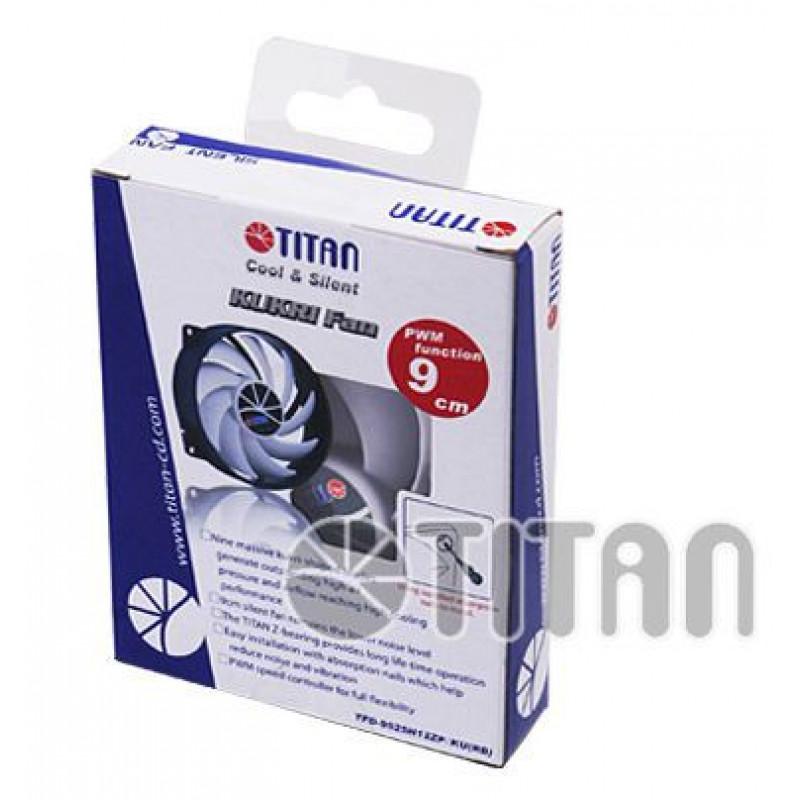 Вентилятор Titan TFD-9525H12ZP/KU(RB) 80x80x25mm 4-pin 10-27dB Ret