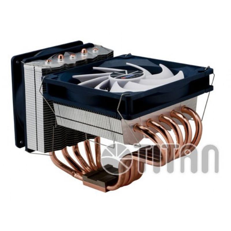 Устройство охлаждения(кулер) Titan Fenrir Siberia Soc-AM4/AM3+/1150/1151/1200/2011 4-pin 8-35dB Al+Cu 220W 1300gr Ret