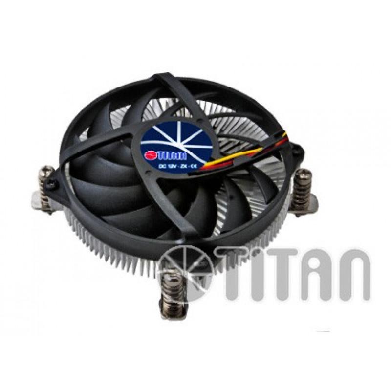 Устройство охлаждения(кулер) Titan DC-155A915Z/R Soc-1200/1150/1151/1155 3-pin 33dB Al 65W 147gr Ret