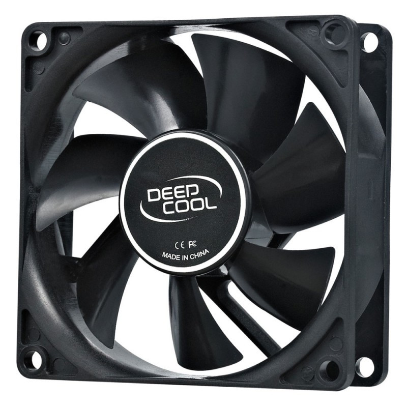 Вентилятор Deepcool XFAN 80 80x80x25mm 4-pin (Molex)20dB 82gr Ret
