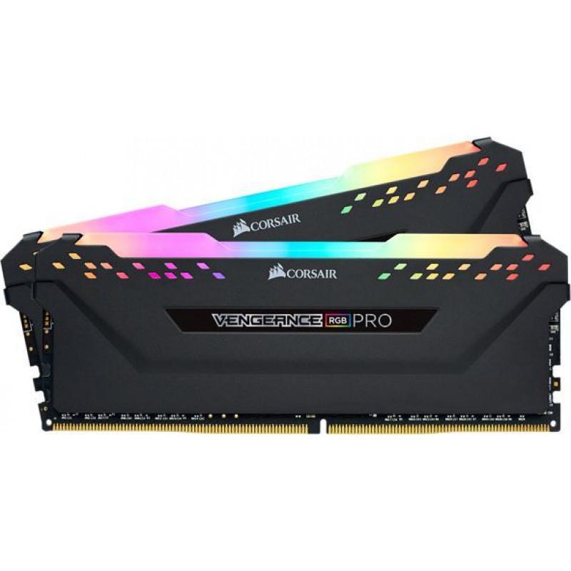 Память DDR4 2x8Gb 3000MHz Corsair CMW16GX4M2C3000C15 Vengeance RGB Pro RTL PC4-24000 CL15 DIMM 288-pin 1.35В