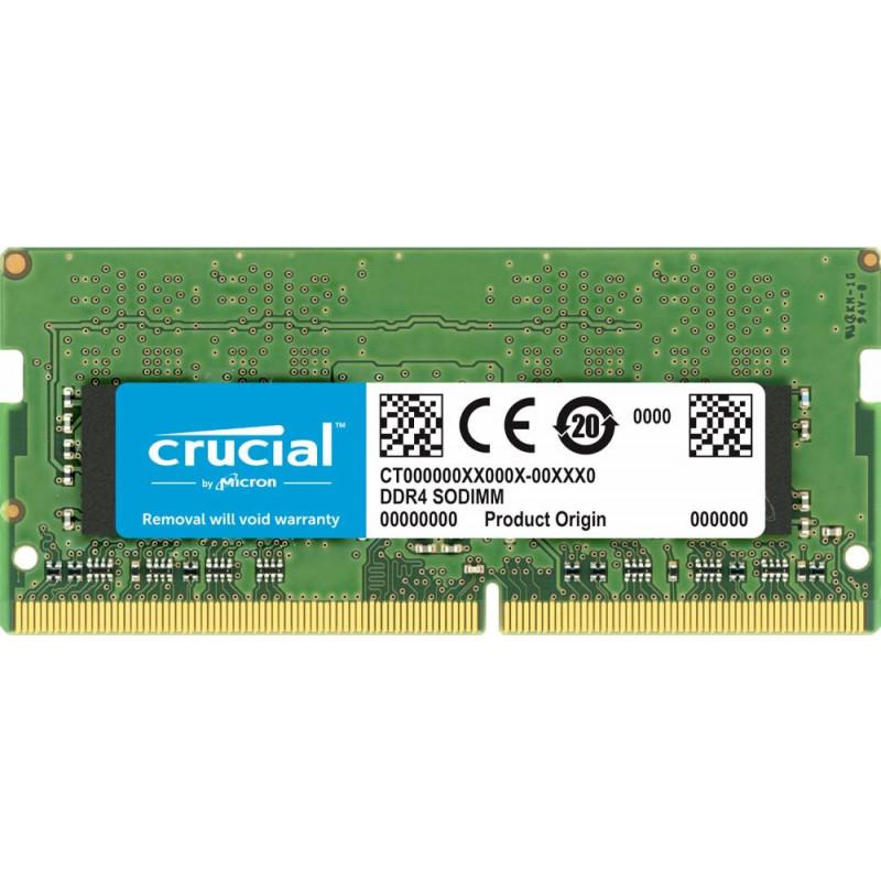 Память DDR4 16Gb 2666MHz Crucial CT16G4SFD8266 RTL PC4-21300 CL19 SO-DIMM 260-pin 1.2В dual rank