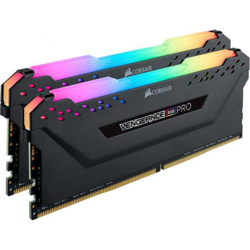 Память DDR4 2x8Gb 3200MHz Corsair CMW16GX4M2C3200C14 Vengeance RGB Pro RTL PC4-25600 CL14 DIMM 288-pin 1.35В