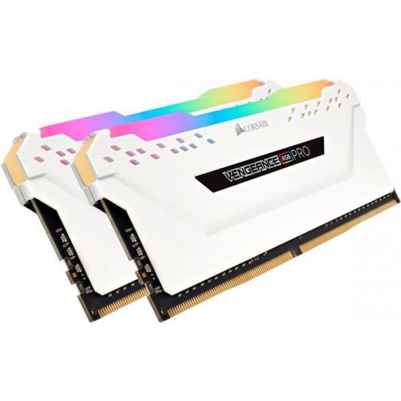 Память DDR4 2x16Gb 2666MHz Corsair CMW32GX4M2A2666C16W Vengeance RGB Pro RTL PC4-21300 CL16 DIMM 288-pin 1.35В