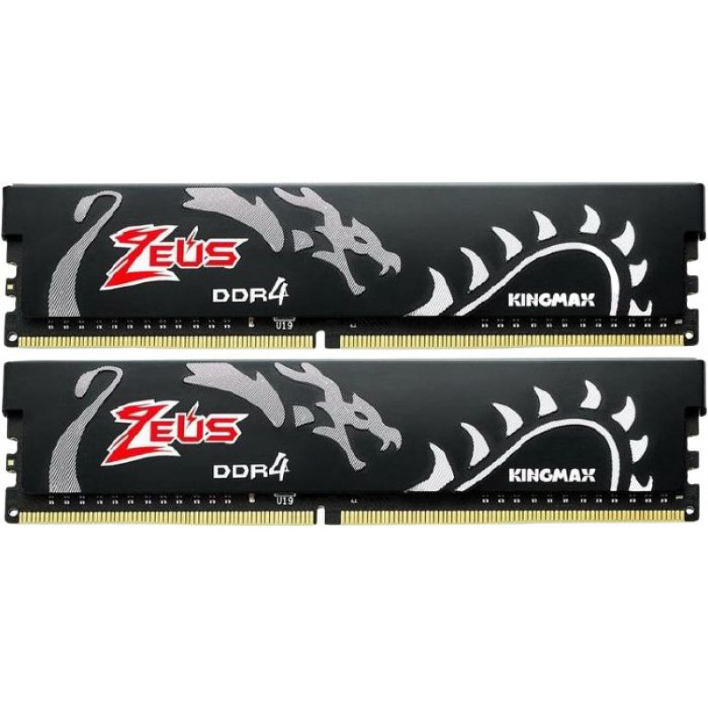 Память DDR4 2x8Gb 3200MHz Kingmax KM-LD4A-3200-16GDHB16 Zeus Dragon RTL PC4-25600 CL16 DIMM 288-pin 1.35В kit