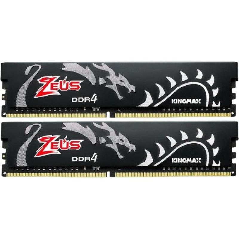 Память DDR4 2x16Gb 3200MHz Kingmax KM-LD4A-3200-32GDHB16 Zeus Dragon RTL PC4-25600 CL16 DIMM 288-pin 1.35В kit