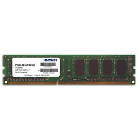 Память DDR3 8Gb 1600MHz Patriot PSD38G16002 RTL PC3-12800 CL11 DIMM 240-pin 1.5В