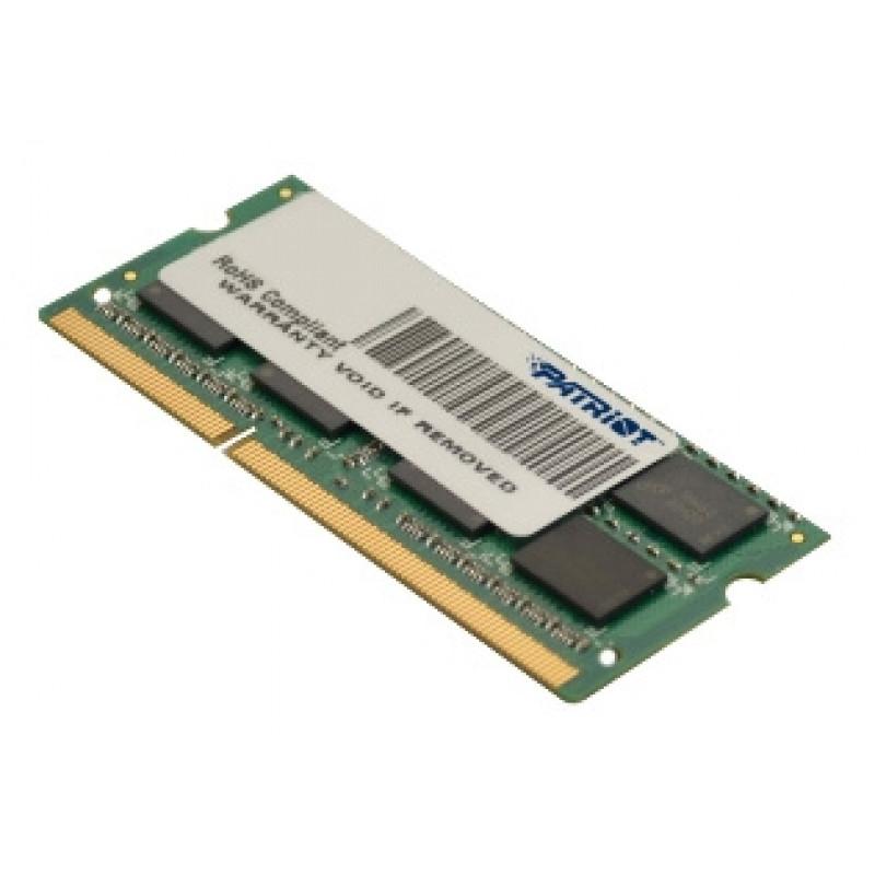 Память DDR3L 4Gb 1600MHz Patriot PSD34G1600L81S RTL PC3-12800 CL11 SO-DIMM 204-pin 1.35В dual rank