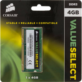Память DDR3 4Gb 1333MHz Corsair CMSO4GX3M1A1333C9 RTL PC3-10600 CL9 SO-DIMM 204-pin 1.5В