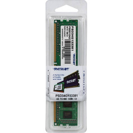 Память DDR3 4Gb 1333MHz Patriot PSD34G133381 RTL PC3-10600 CL9 DIMM 240-pin 1.5В