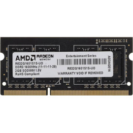 Память DDR3 2Gb 1600MHz AMD R532G1601S1S-UO OEM PC3-12800 CL11 SO-DIMM 204-pin 1.5В
