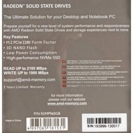 Накопитель SSD AMD PCI-E 960Gb R5MP960G8 Radeon M.2 2280