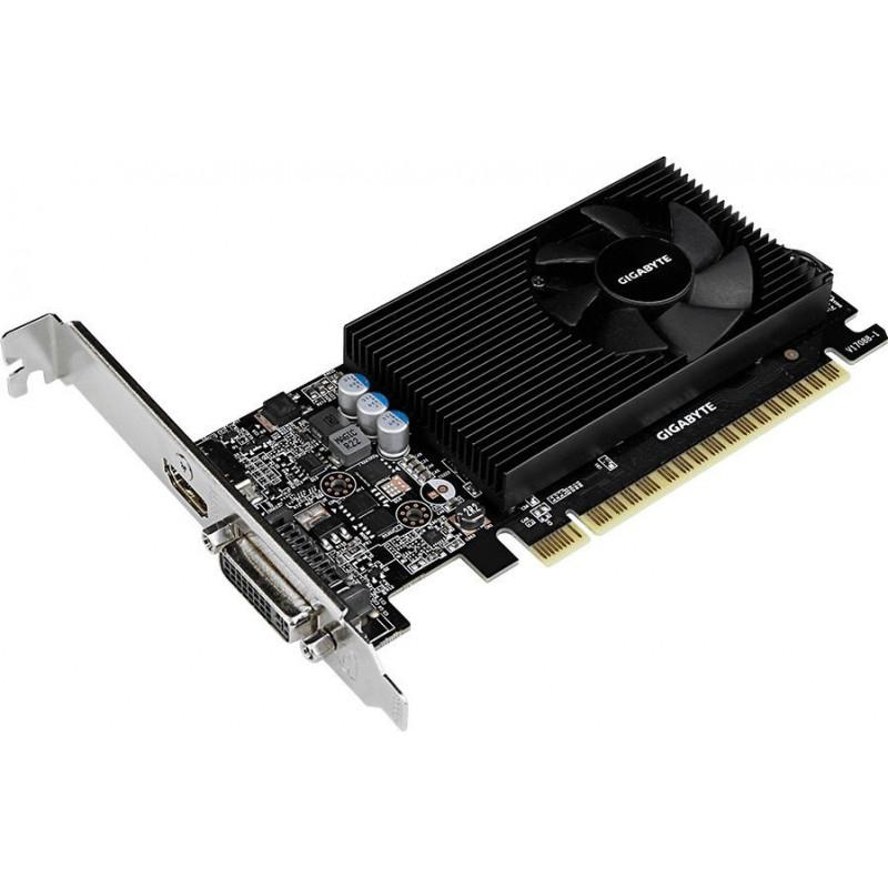 Видеокарта Gigabyte PCI-E GV-N730D5-2GL nVidia GeForce GT 730 2048Mb 64bit GDDR5 902/5000 DVIx1/HDMIx1/HDCP Ret low profile