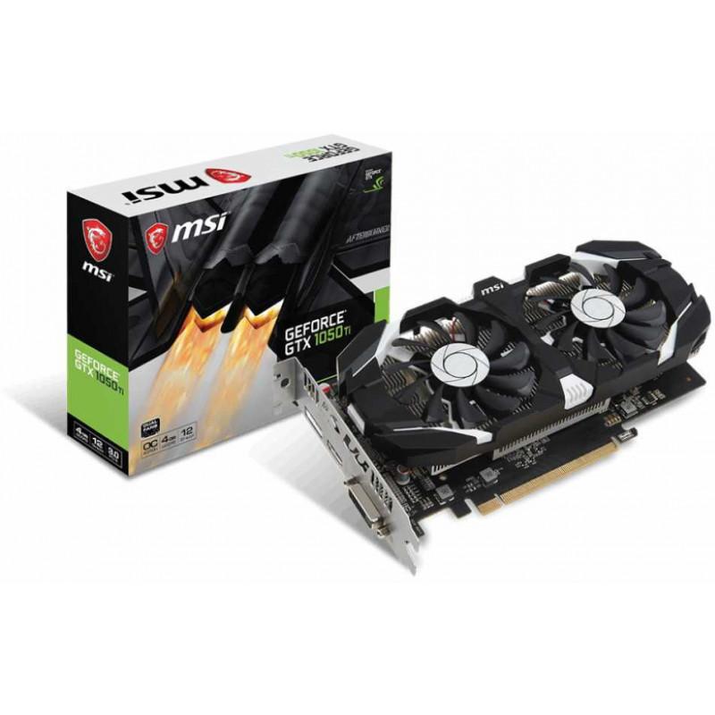 Видеокарта MSI PCI-E GTX 1050 Ti 4GT OCV1 nVidia GeForce GTX 1050TI 4096Mb 128bit GDDR5 1341/7008 DVIx1/HDMIx1/DPx1/HDCP Ret