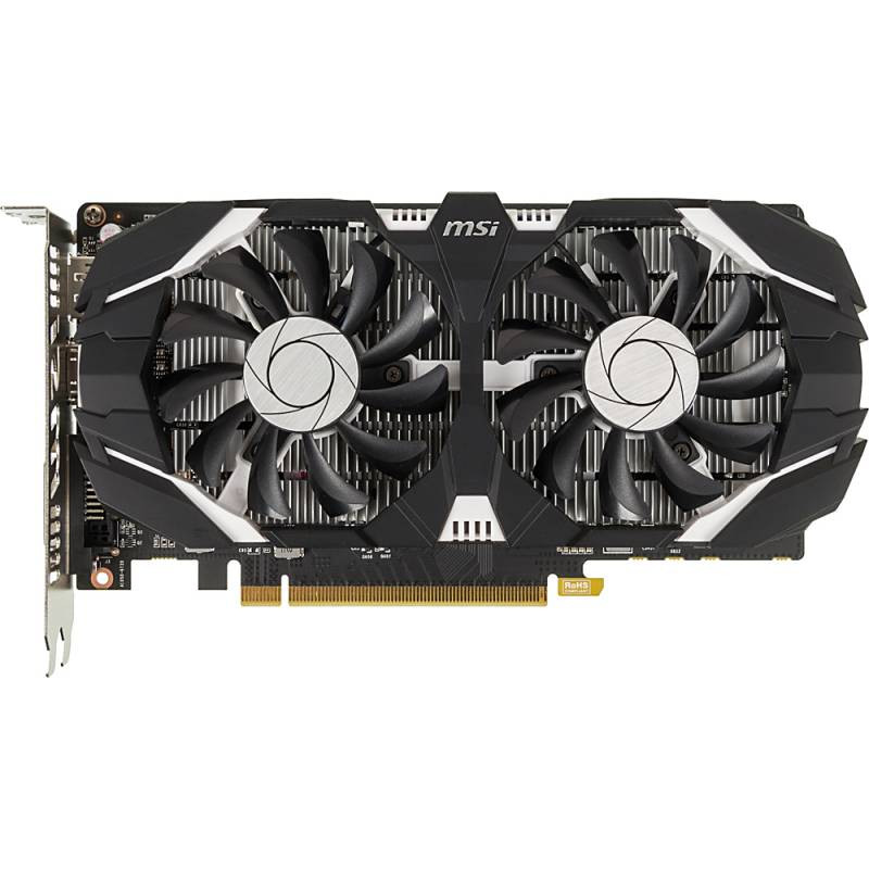 Видеокарта MSI PCI-E GeForce GTX 1050 Ti 4GT OC nVidia GeForce GTX 1050TI 4096Mb 128bit GDDR5 1341/7008 DVIx1/HDMIx1/DPx1/HDCP Ret