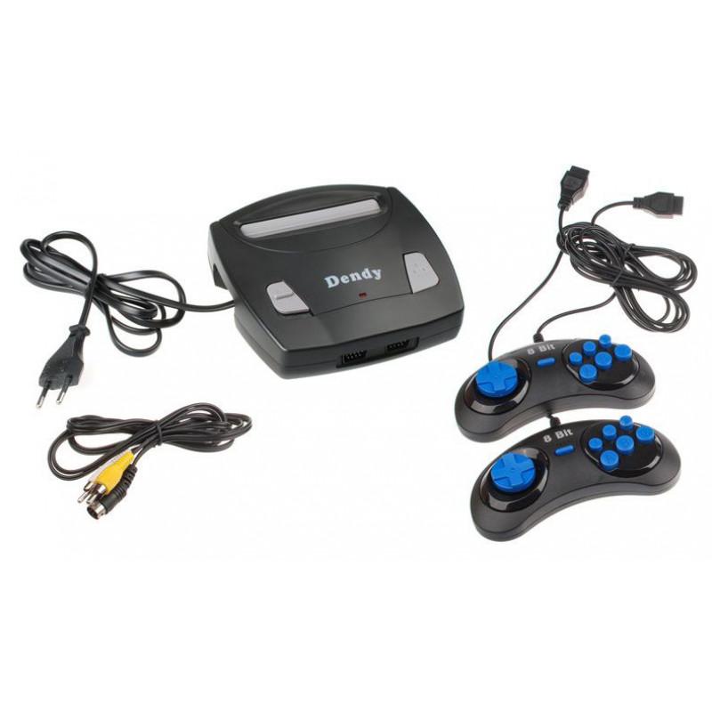 Игровая консоль Dendy Classic 8bit черный в комплекте: 255 игр Little