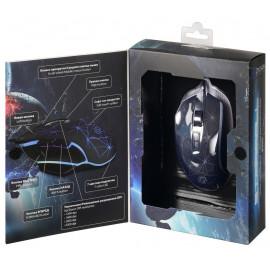Мышь Оклик 935G STARFALL черный оптическая (3200dpi) USB (8but)
