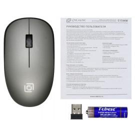 Мышь Оклик 515MW черный/серый оптическая (1000dpi) беспроводная USB для ноутбука (3but)