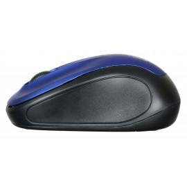 Мышь Оклик 665MW черный/синий оптическая (1000dpi) беспроводная USB для ноутбука (4but)