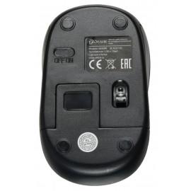Мышь Оклик 665MW черный/красный оптическая (1000dpi) беспроводная USB для ноутбука (4but)