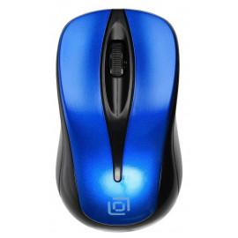 Мышь Оклик 675MW черный/синий оптическая (800dpi) беспроводная USB для ноутбука (3but)