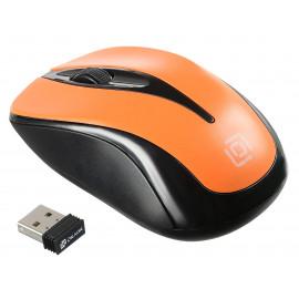 Мышь Оклик 675MW черный/оранжевый оптическая (800dpi) беспроводная USB для ноутбука (3but)