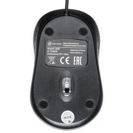 Мышь Оклик 385M черный оптическая (1000dpi) USB для ноутбука (3but)