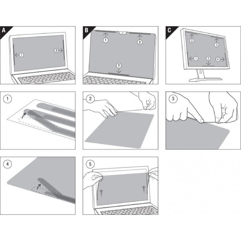 Экран защиты информации для ноутбука 3M PF133W1B (7100210594) 13.3