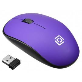 Мышь Оклик 515MW черный/пурпурный оптическая (1000dpi) беспроводная USB для ноутбука (3but)