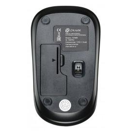 Мышь Оклик 525MW черный оптическая (1000dpi) беспроводная USB (2but)
