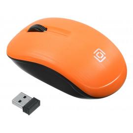 Мышь Оклик 525MW черный/оранжевый оптическая (1000dpi) беспроводная USB для ноутбука (3but)
