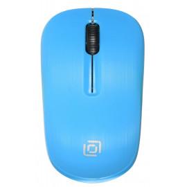 Мышь Оклик 525MW черный/голубой оптическая (1000dpi) беспроводная USB для ноутбука (3but)