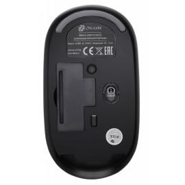 Мышь Оклик 535MW черный/серый оптическая (1000dpi) беспроводная USB для ноутбука (3but)