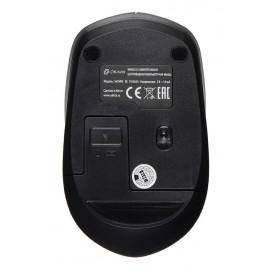 Мышь Оклик 565MW glossy черный оптическая (1600dpi) беспроводная USB для ноутбука (4but)