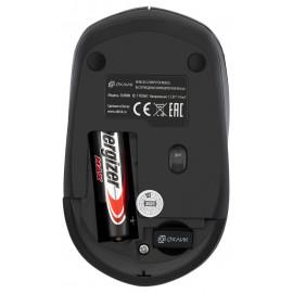 Мышь Оклик 565MW glossy черный/серебристый оптическая (1600dpi) беспроводная USB (3but)