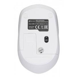 Мышь Оклик 565MW glossy белый оптическая (1600dpi) беспроводная USB для ноутбука (4but)