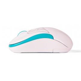 Мышь A4Tech V-Track G3-300N белый/голубой оптическая (1200dpi) беспроводная USB для ноутбука (3but)