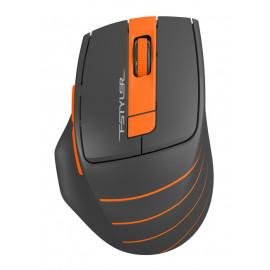 Мышь A4Tech Fstyler FG30 серый/оранжевый оптическая (2000dpi) беспроводная USB (6but)