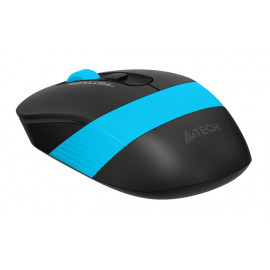 Мышь A4Tech Fstyler FG10 черный/синий оптическая (2000dpi) беспроводная USB (4but)